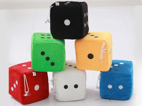 Plush Dice (4cm) With Window Suckers x 24